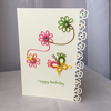 Butterfly daisy chain tatted lace birthday card