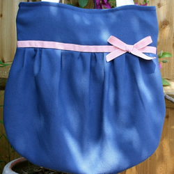 Blue Bow Bag with Pink Bow