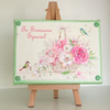 Decoupaged Small Canvas With Easel, To Someone Special