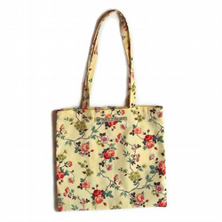 Book bag in retro rosebud fabric