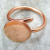 Reserves for  JewelsK  Pure Copper flat pad ring