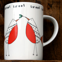 Robin Couple Tweet Mug
