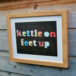 SALE - 'Kettle On' Framed Collage Picture - Incl P&P