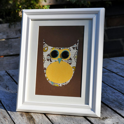 Wise Owl Framed Collage Picture - Incl P&P