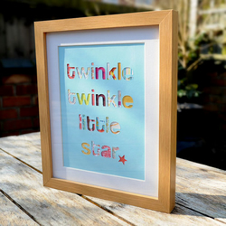 'Twinkle Twinkle' Framed Collage - 28cm x 23cm - Incl P&P