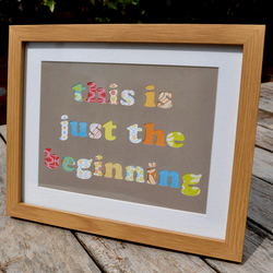 'Just the Beginning' Framed Collage Picture - Incl P&P