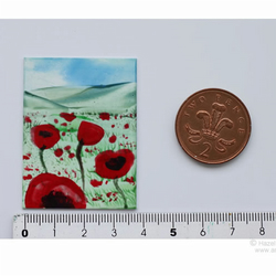 Dolls House Art Miniature Poppy Landscape