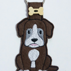 Charming Boxer Dog Keyring - Free UK Postage