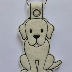 Lovely Cream Labrador Dog Keyring - Free UK Postage