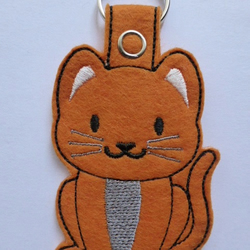Ginger Tom Cat Keyring - Free UK Postage