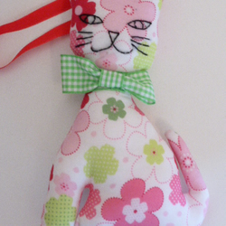 Flowery Cat Hanging Decoration