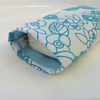 Glasses or Pouch Case Tissue Holder in Blue Beach Flower Design Fabric
