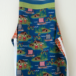 Reversible Apron - Rockets and Vikings - Blue, Orange, Green