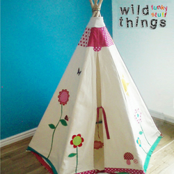 Childrens teepee tipi customised play tent and play mat