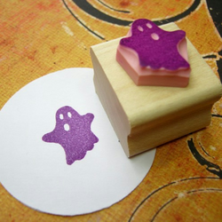 Halloween Ghost - Hand Carved Rubber Stamp