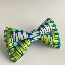 Spring Peacock dog collar bow
