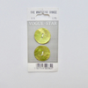 Lime green shell buttons, vintage Vogue buttons.