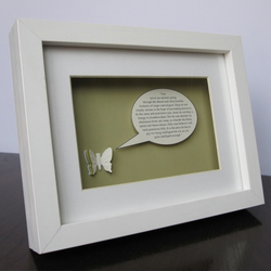Huxley Speech - Framed Butterfly art