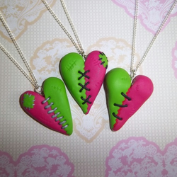 Zombie Heart Necklaces