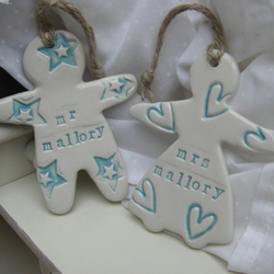 Personalised Bride And Groom Hanging Wedding Gift