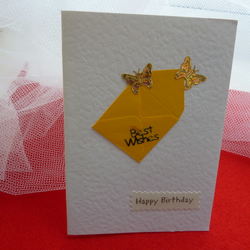 Joyful Butterfly bithday card