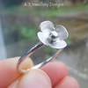 Sterling Silver Stacking Ring - Rustic Blossom - Handmade Metalwork Jewellery