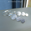 Stepping Stones Sterling Silver Earrings - Textured Pebbles - Organic Metalwork