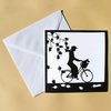 Greetings Card - Blank - Cycling