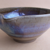 Mixing bowl with pouring lip, hand thrown in stoneware. With blue beige glaze.