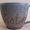 Personalised Stoneware Coffee Mug, tea cup with glaze of your choice.