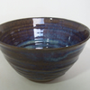 Tea bowl, (chawan). Scratched decoration. With blue beige glaze.