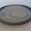 Dinner plate. With blue beige glaze. 26 cm.