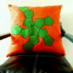 "SALE   Geometric Cushion Cover.  21"" x 21"".  Maths Gifts"