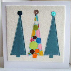 **SALE**  Contemporary christmas tree card