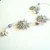 Frosted Silver 'In Bloom' Floral Bracelet