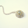 Silver Pearl Necklace - 'Starflower'
