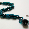 Spiral Rope Bracelet in Electric Teal