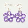 Violet Daisy Earrings