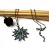 Gazania Flower Necklace -Gunmetal