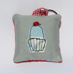 Applique Fabric Keyring