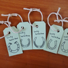 Lucky horseshoe gift tags