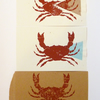 Free Postage - Cheap Seconds - Crab Lino Prints
