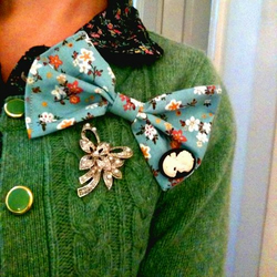 """I Feel Pretty""- Over Sized Floral Bow Brooch"
