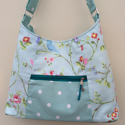 Duck egg chintzy shoulder bag