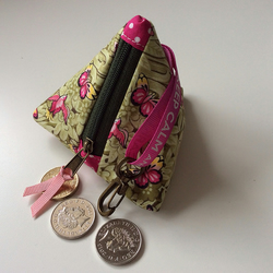 Green & pink butterfly purse