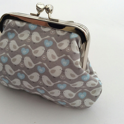 Double pocket metal frame coin purse
