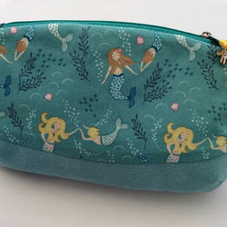 Turquoise Blue Mermaid make-up bag