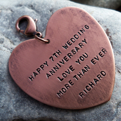 Personalised Keyring, Heart Message Tag engraved with your own words. PT2006 07