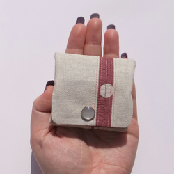 Little Stripe Folding Coin Purse