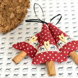 Handmade Christmas Decorations Set of 3